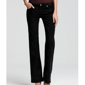 "👖 SALE 7 For All Mankind Black Velvet ""Mia"" Jeans"